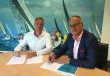 Links: Bart Hogendoorn, CEO van Famed – rechts: Anne-Peter van Riet, Directeur Edin Dental Academy