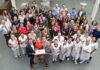 Trotse en blije medewerkers van het Flevoziekenhuis.