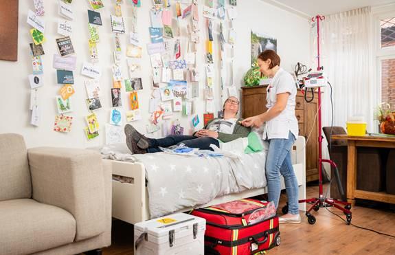 Jenita van der Sluis kreeg immunotherapie thuis